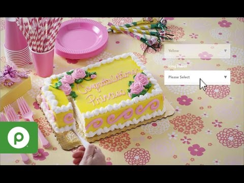 Order Custom Bakery Cakes with Publix Online Easy Ordering