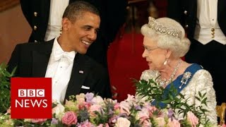 Video 65 years, 1 Queen and 12 US presidents - BBC News MP3, 3GP, MP4, WEBM, AVI, FLV April 2018