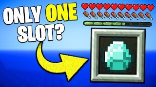 If Your Inventory Only Had ONE Slot - Minecraft