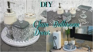 DIY DOLLAR TREE | GLAM WASHROOM DECOR | BATHROOM ORGANIZING DIY