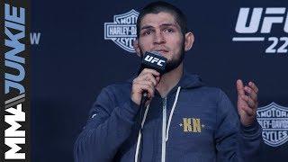 Video UFC 229: Khabib Nurmagomedov post fight press conference MP3, 3GP, MP4, WEBM, AVI, FLV Oktober 2018