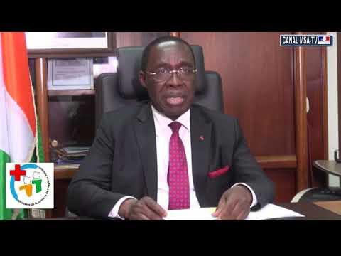 COTE D'IVOIRE: Message de Monsieur AHOUELE EUGENE AKA, Ministre Santé  et de l'Hygiene Publique