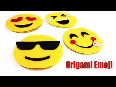 Origami Emoji : How To Make Emoji Corner Bookmark - Emoji Crafts With Paper