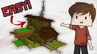 Easy Minecraft Garden House Tutorial