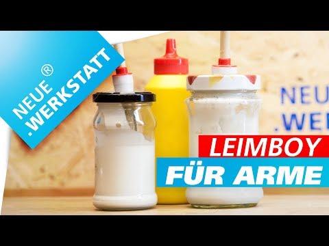 Leim Spender selber machen /// Leimspender aus Marmeladenglas herstellen // LeimBoy für arme