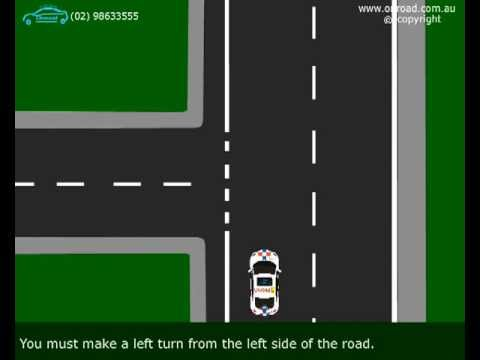 Turn Left - Animated Driving Video Lessons by Onroad Driving School