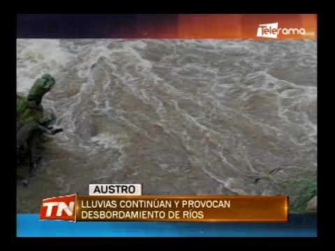 Lluvias continúan y provocan desbordamiento de ríos