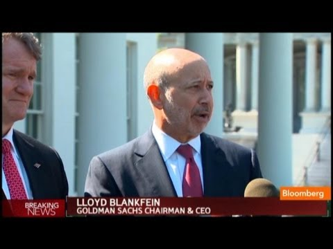 Blankfein - Oct. 2 (Bloomberg) -- Brian Moynihan, CEO at Bank of America and Lloyd Blankfein, chairman & CEO at Goldman Sachs, recap their meeting with President Obama o...