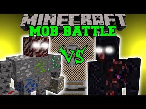 ORE BOSS VS MUTANT OBSIDIAN GOLEM - Minecraft Mob Battles - Fake Ores Mods