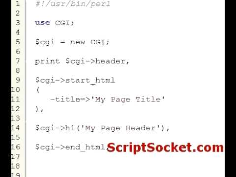 Perl Tutorial 52 – CGI.pm – Generate HTML on the Fly