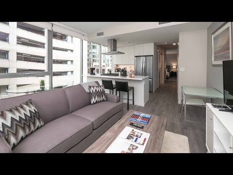 A furnished 1-bedroom convertible in River North at 8 East Huron