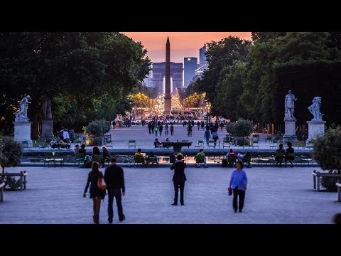parigi in time-lapse motion - città favolosa