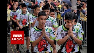 Video Full News Conference: Thai cave rescue boys relive 'moment of miracle' - BBC News MP3, 3GP, MP4, WEBM, AVI, FLV Juli 2018