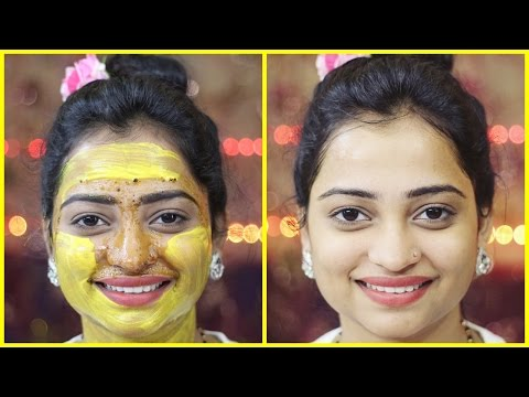 Get Healthy Glowing Flawless Smooth Skin in 15 min/ Best Face Pack for Blackhead Whitehead Dull Skin