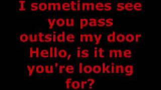 LIONEL RICHIE - HELLO LYRICS