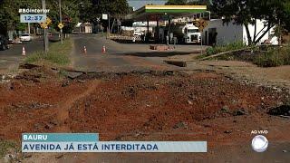 Avenida Daniel Pacífico em Bauru já está interditada para obras
