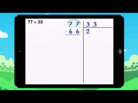 comment poser une division à 2 chiffres cm1