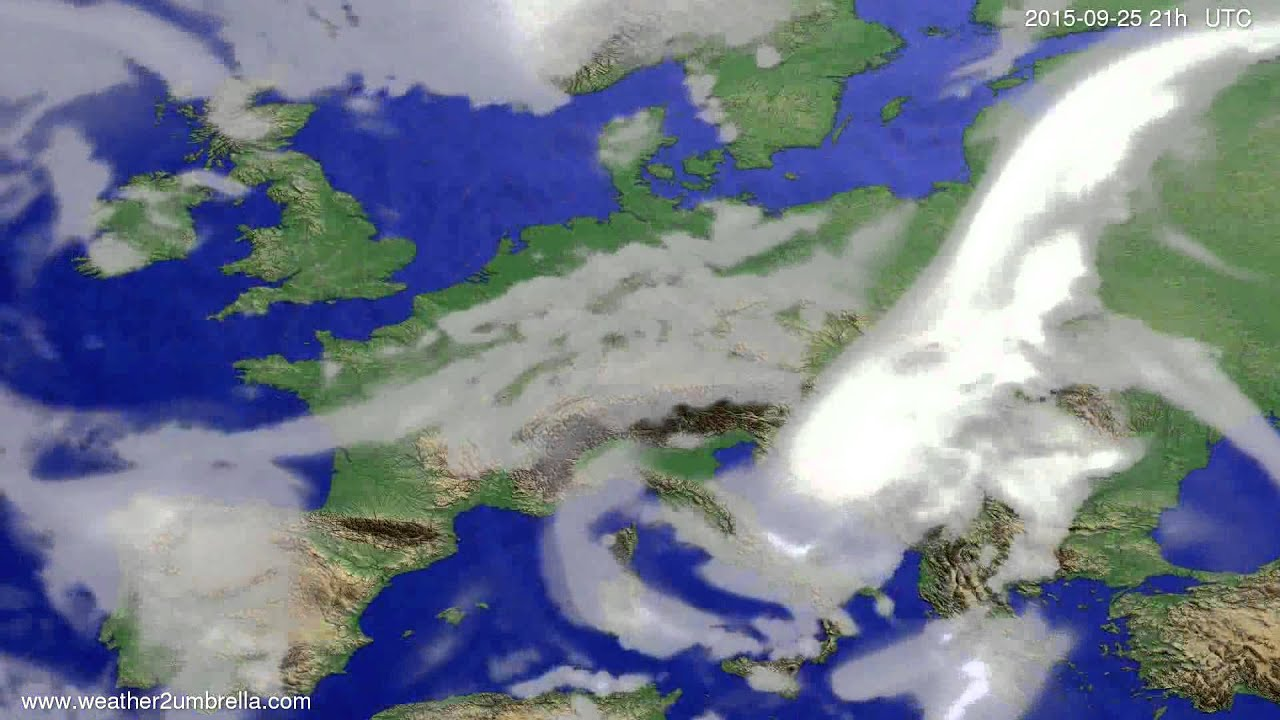 Cloud forecast Europe 2015-09-22