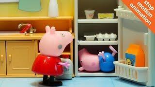 Свинка Пеппа и очень жаркий день. Мультик из игрушек Свинка Пеппа на русском.