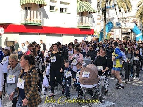 I Carrera solidaria por la lucha contra el cáncer infantil celebrada en Isla Cristina