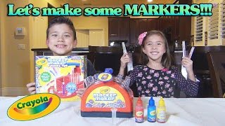 Crayola MARKER MAKER!!! Family Toy Review & Demonstration