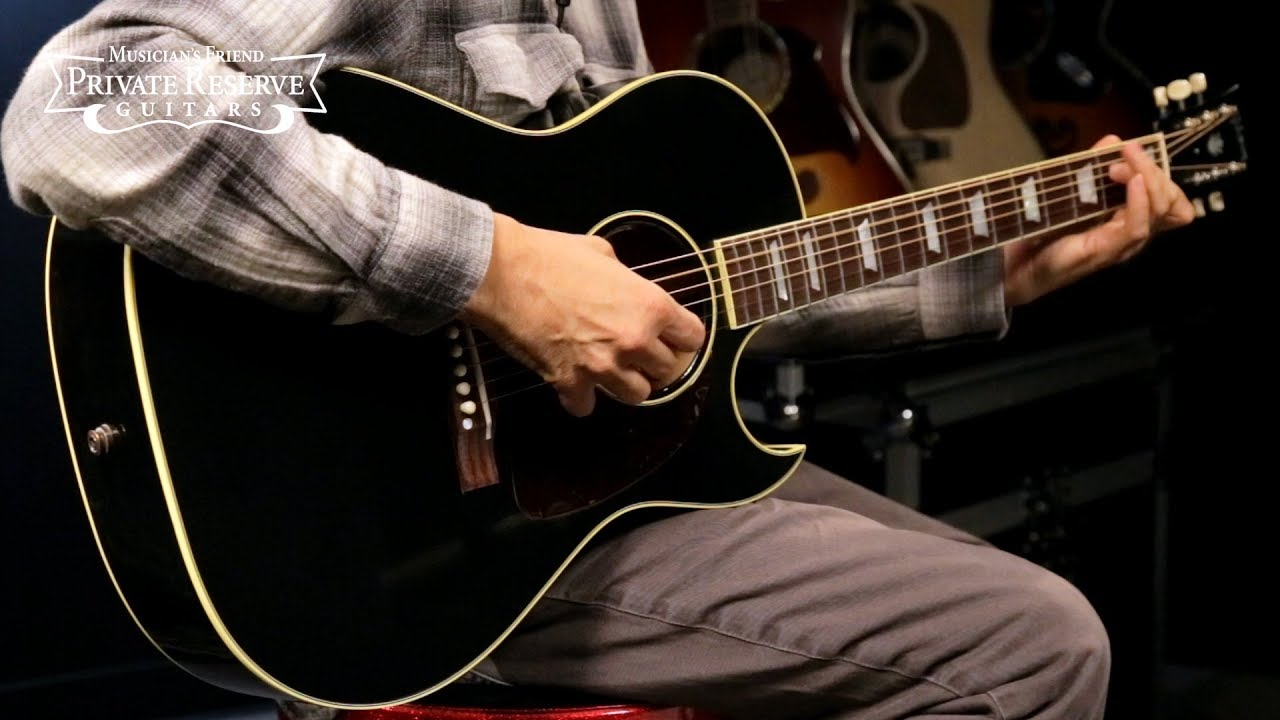 Gibson Limited Run 1950s CF-100 Ebony Acoustic-Electric Guitar