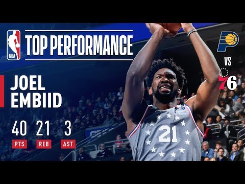 Video: Joel Embiid Drops 40 Points and Grabs 21 Rebounds VS Indiana | December 14, 2018