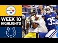Steelers vs Colts | NFL Week 10 Game Highlights
