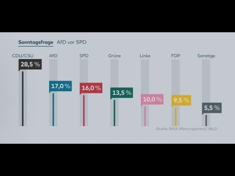 INSA-Umfrage: Die AfD überholt zum ersten Mal die SPD