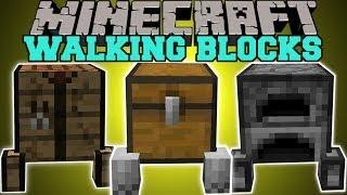 Minecraft: WALKING BLOCKS (BLOCKS THAT FOLLOW YOU!) Block Golems Mod Showcase