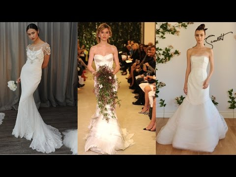 Satin Mermaid Wedding Dresses 2016