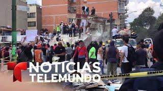 Piden silencio para escuchar sobrevivientes bajo los escombros | Noticias Telemundo