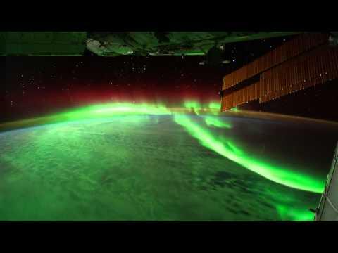 الشفق القطبي من الاقمار الصناعية HD
