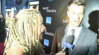 http://www.outtherewithmelissa.com/ - Melissa catches Josh Duhamel and Julianne Hough at the premiere of Safe Haven and asks where they find their happy plac...