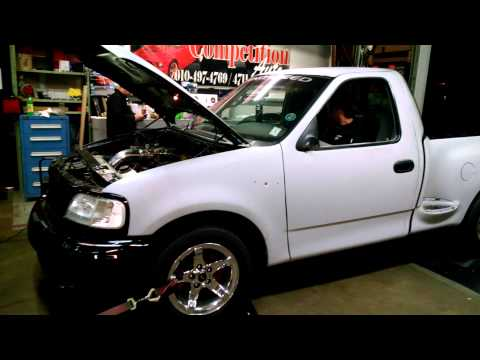 Test hit at 8 psi till tires spun on the dyno