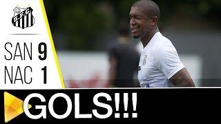 COMEÇOU A TEMPORADA! O Santos teve seu primeiro teste no ano e venceu o Nacional-SP, por 9 a 1, no CT Rei Pelé! Confira todos os gols da partida! Inscreva-se...