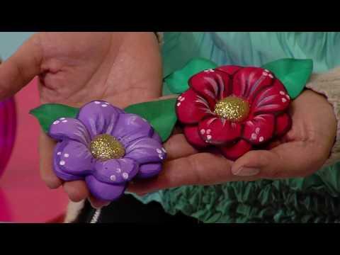 foamy - fiori realizzati con la tecnica del termoformato