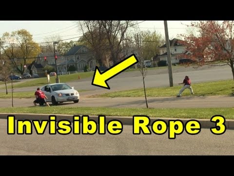 Funny Pranks Invisible Rope 3 Funny Video