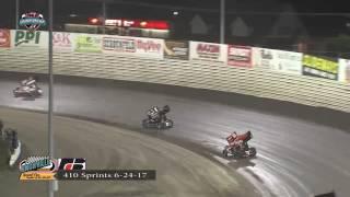 Knoxville Raceway 410 Highlights June 24, 2017