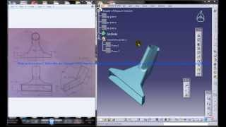 Catia V5 Tutorial|Product Engineering|How Create Nozzle of Vacuum Cleaner(Easy Steps Beginners)|P3