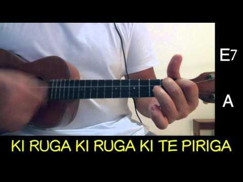FAKATERE TERE - Ukulele cover with lyrics and chords (видео)
