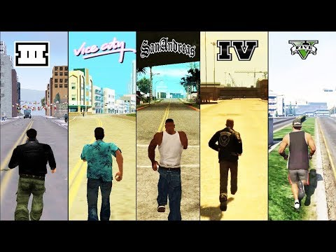 SBS Comparison of GTA games! (GTA 3 vs VC vs SA vs IV vs V)