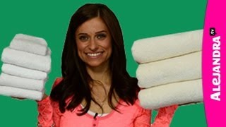 How to Fold Bath, Hand & Face Towels in the Bathroom & Linen Closet - YouTube