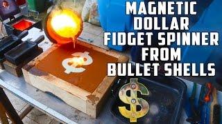 Video Casting Brass Dollar Fidget Spinner from Bullet Shells MP3, 3GP, MP4, WEBM, AVI, FLV Mei 2019