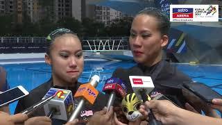 Reaksi Gan Hua Wei & Lee Yhing Huey selepas meraih pingat perak dalam acara Renang Seirama - Duet Teknikal. SUBSCRIBE...