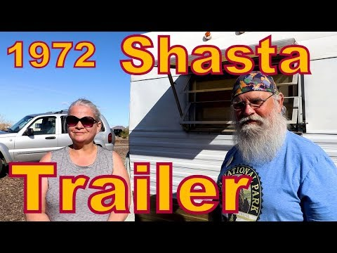 Jan Traveling in a Vintage, 10 foot, 1972 Shasta Camper