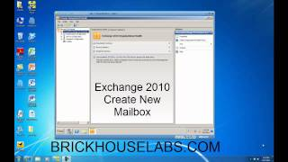 Learn how to create a new Exchange 2010 Mailbox and Active Directory User Account in this tutorial.  http://www.brickhouselabs.com