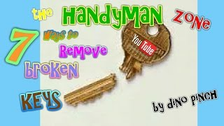 Video 7 Tricks Get Broken Key Out Yourself - Any Lock or Key MP3, 3GP, MP4, WEBM, AVI, FLV November 2017