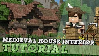 Minecraft Tutorial: Small Medieval House - Interior! Part 2/2