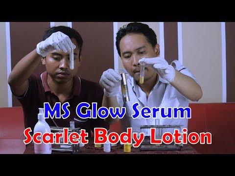 Review Dokter Grand Scarlet Whitening Body Lotion vs MS Glow Luminous Glowing Serum